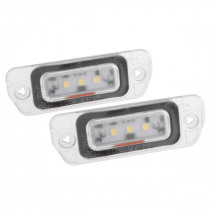 2Pcs 3SMD LED License Plate Lights for Mercedes-Benz R-Class GL350 450 X164 W164