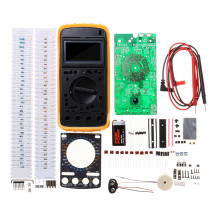 9205A Digital Multimeter Learning Kit AC/DC Voltage Resistance Capacitance Diode Tester Students DIY Electronic Production Training Kit