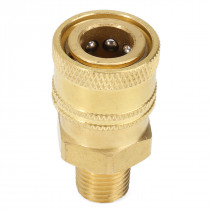 1/4 Inch Male NPT Quick Coupler Socket Brass Pressure Washer Coupling 4000PSI