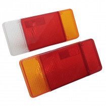 Car Rear Tail Light Lens Cover Plastic 303x132mm Pair for Iveco Eurocargo Daily for Peugeot