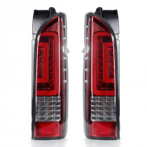 Pair Red Lens Car Rear Tail Brake Light Turn Signal Lamps For TOYOTA HIACE 2005-2019