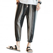 Men's Casual Striped Printed Loose Harem Pants