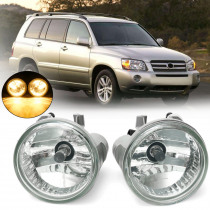 Car Front Bumper Fog Lights 9006 Halogen Bulbs Amber for Toyota Highlander 2004-2007