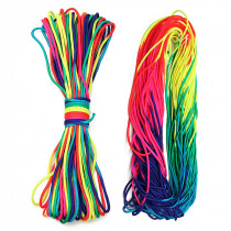 200ft Rainbow Color Paracord Rope 7 Strand Parachute Cord Camping Hiking EDC Rope