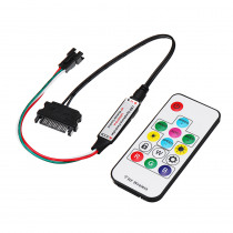 DC5V WS2812 SATA Power Supply Interface Computer LED Strip Controller With 14Key RF Wireless Remote