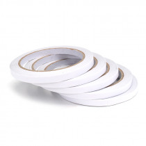 5Pcs 7mm×20m Double Sided Super Strong Adhesive Tape Roll Office Stationery Double Sided Tape