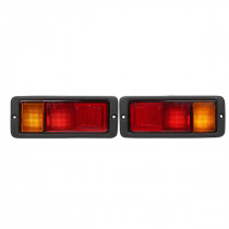 Pair Halogen Car Rear Tail Light Shell Left+Right Lamp for Mitsubishi Pajero Montero