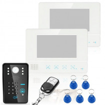 ENNIO SY811WMJIDS12 Wired Touch Key 7 inch Video Phone Intercom Monitor with RFID Keypad Doorbell