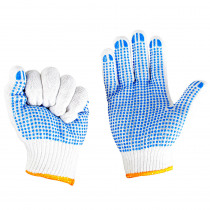 CAMNAL 1 Pair Cotton Climbing Gloves Labour Work Gloves Anti-slip Particles Wear-resistant Downhill Gloves
