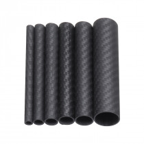 100mm Length Black Carbon Fiber Tube Roll Wrapped Tube for Multicopter