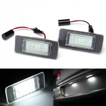 Pair 3W Car LED License Plate Lights for Opel Astra Zafira Vectra CANBUS Error Free White