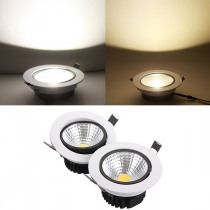 15W Non-dimmable COB LED Recessed Ceiling Light Fixture Down Light Kit