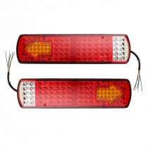 2Pcs 12V 87LED Car Rear Tail Light Multifuctional Indicator Lamp for Truck Lorry Trailer Caravan