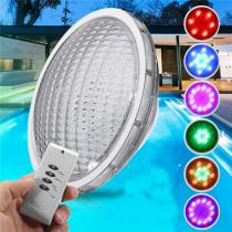 54W Stainless RGB 18 LED Swimming Pool Light Waterproof Remote Control Wall Mounted Night Light
