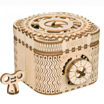 3D Self-Assembly Wooden Treasure Box Mechanical Gears Building Kits Puzzle Building Model Gift
