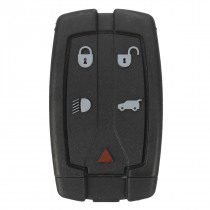 5 Buttons Remote Key Fob Cover Case + VL2330 Battery For Land Rover Freelander 2
