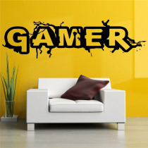 Wall Room Decor Art Vinyl Sticker Mural Decal Gamer Word Game Home Decor Kids Room Wall Stickers Big Large Home Living Room Kitchen Decor Wall Stickers