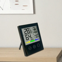 High Precision Blue Backlight Touch-Digital Display Temperature Hygrometer LCD Weather Station Temperature Humidity