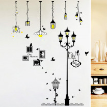 Creative Cartoon Chandelier PVC  Wall Sticker DIY Removable Household Decor Waterproof Wall Stickers Home Wall Sticker Poster Mural Decoration for Bedroom Living Room