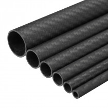 Dia 8-32mm Wall 1mm 3K Carbon Fiber Tube Pipe Glossy Wrapped for RC Air Model