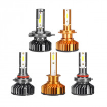 2Pcs Car COB LED Headlights High Concentration Light Speedily Heat Dissipation Lamps 6000K 9800LM 9-36V 55W H1 H3 H4 H7 9005 9006