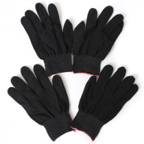 2 Pairs Anti Static Nylon Work Glove Grip Durable Knit Working Safety Gloves